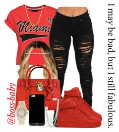 """""""I may be bad, but I still fabulous"""" by boss-baby ❤ liked on Polyvore featuring Michael Kors, France Luxe, NIKE, French Connection, Sonix, Rolex and Sterling Essentials"""