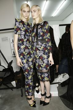 Backstage at Erdem RTW Fall 2013