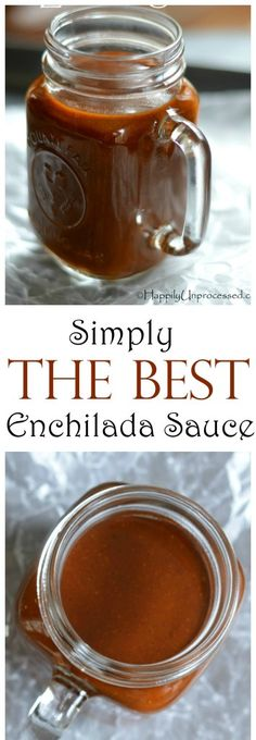 Simply THE BEST Red Enchilada Sauce EVER! - Happily Unprocessed