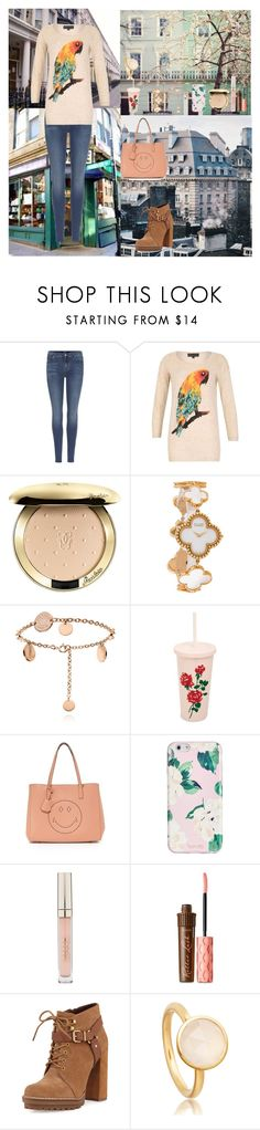 """Wonderful Spring Day🌤"" by oksana-kolesnyk ❤ liked on Polyvore featuring 7 For All Mankind, Mela Loves London, Guerlain, Van Cleef & Arpels, ban.do, Anya Hindmarch, Stila, Benefit and BCBGeneration"