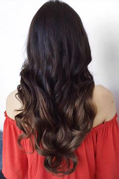 The beautiful @gabiloniaaa is wearing her Ombre Chestnut #luxyhairextensions. Check out this before and after transformation on our @luxyhairlove Instagram account! www.instagram.com/luxyhairlove