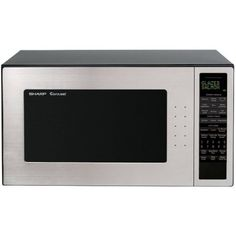 Sharp R530EST 2.0 cu. ft. 1200W Full-Size Microwave Oven, Stainless Steel, Silver