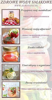 NAPOJE na Stylowi.pl Good Healthy Recipes, Clean Recipes, Raw Food Recipes, Healthy Food, Healthy Water, Healthy Mind And Body, Healthy Life, Healthy Cocktails, Slow Food