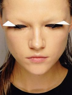Makeup for Gareth Pugh by Collaboration: Mastered expert Alex Box. We're working with the world's top fashion collaborators to bring you a free short course. #collaborationmastered #Fashion #Makeup #Photography #Hair #ArtDirection #styling #beauty #collaboration