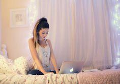 Zoe in her beautiful room <3