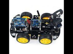 4WD Arduino Sonar and IR Robot Test Run - YouTube