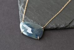Custom Natural Rose Cut Blue Sapphire Necklace by LexLuxe on Etsy https://www.etsy.com/listing/225540930/custom-natural-rose-cut-blue-sapphire #etsyshop #jewelry #necklace #gemstone