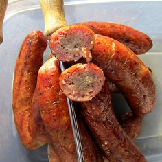 Smoked Brats- on the look out for things to smoke in my new smoker-- sounds like a tasty alternative to grilled!