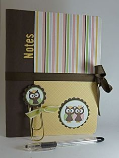 owl notepad and bookmark