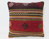 "kelim pillow 18"" floor pillow cover bohemian bedding pillow unusual cushion retro throw pillow embroidered pillow throw pillow cover 28321"