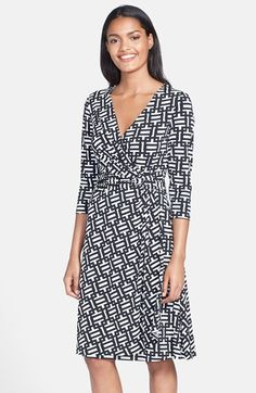 Maggy+London+Print+Jersey+Wrap+Dress+(Regular+&+Petite)+available+at+#Nordstrom