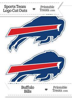 Medium Buffalo Bills Logo Cut Outs from PrintableTreats.com