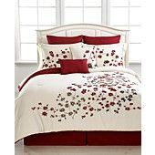 Laurel 8 Piece Queen Comforter Set - Bed in a Bag - Bed & Bath - Macy's Bedroom Comforter Sets, Full Comforter Sets, Blue Bedding, Bed Cover Design, Bed Design, Bedroom Red, Bedroom Decor, Draps Design, Bed Sheet Painting Design