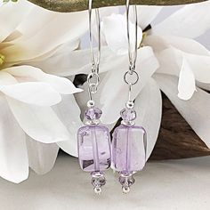 Isn't this amethyst a gorgeous colour? Right on trend in pale pinks and sterling silver, Mom would love these! Free Canadian shipping and free gift wrapping available for a limited time. order soon for May delivery! Sterling Silver Anklet, Silver Anklets, Sterling Silver Dangle Earrings, Amethyst Earrings, Amethyst Gemstone, Silver Beads, Gemstone Jewelry, Unique Jewelry, Fashion Colours