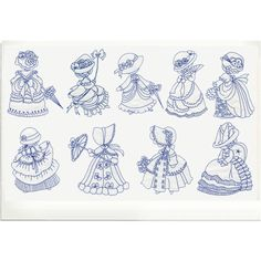 Victorian Embroidery Designs   Embroidery Designs - Victorian Sunbonnets invclude Charming Victorian ...