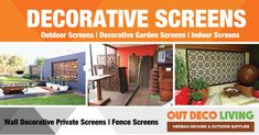 Outdeco Living Decorative Screens are made from Australian press hardwood and made here in Melbourne Australia. Our Screens ideal to use for home or garden as decorative display or as Privacy Screens. Merbau Decking, Decking Supplies, Decorative Screens, Privacy Screens, Melbourne Australia, Hardwood, Indoor, Display, Garden