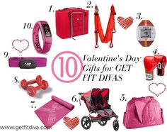 Valentine's Day Gift Ideas for Fitness Lovers from dumbbells to fitbit, boxing gloves and everything else in between.