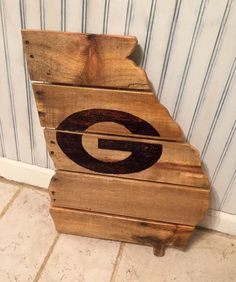 A personal favorite from my Etsy shop https://www.etsy.com/listing/274104490/wooden-pallet-board-state-of-georgia