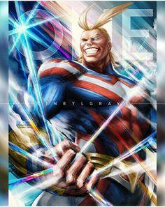 Symbol of Peace Anime & Manga Poster Print Manga Anime, Anime Art, Anime Demon, Buko No Hero Academia, My Hero Academia Manga, Manga Books, Hero Wallpaper, Fan Art, Hero Academia Characters