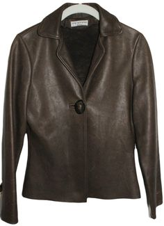 NEELY MACK DESIGN BPOWN LEATHER JACKET Sz S #NeelyMack #BasicJacket