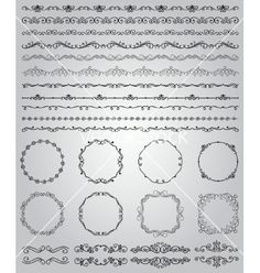 Black hand drawn doodle borders and frames vector by olia_fedorovsky on VectorStock®