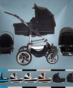 Bebebi-Modell-London-3-in-1-Kinderwagen-Set-Hartgummi-0