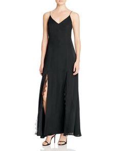 Cotton Candy LA Lace-Trimmed Maxi Slip Dress | Bloomingdale's