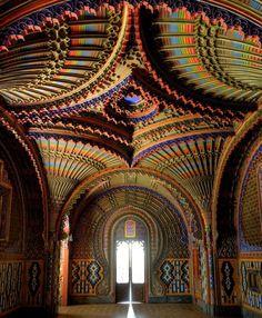 The peacock room in Castello di Sammezzano – Regello, Tuscany