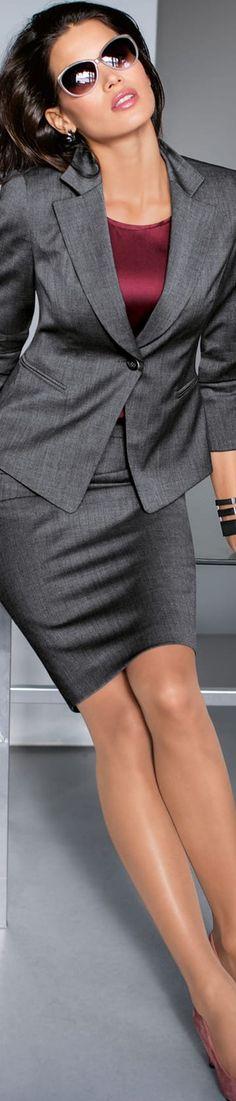 Madeleine Grey Suit.                  Ww