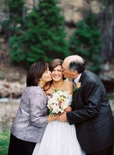 I want a picture like this with my parents! Photography by smittenphotography.com #beachweddingfun