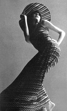 Angelica Houston for Missoni, Vogue Italia, 1971.