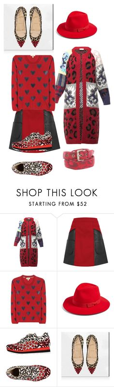 """""""Call me crazy, but I love it!"""" by subvilli on Polyvore featuring Tak.Ori, Coach 1941, Burberry, Brixton, STELLA McCARTNEY, Oliver Gal Artist Co., Michael Bastian, red, leopard and polyvoreeditorial"""