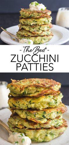 Lasagna Side Dishes, Zucchini Side Dishes, Veggie Main Dishes, Healthy Side Dishes, Side Dish Recipes, Zucchini Patties, Veggie Patties, Zucchini Rounds, Zucchini Sticks