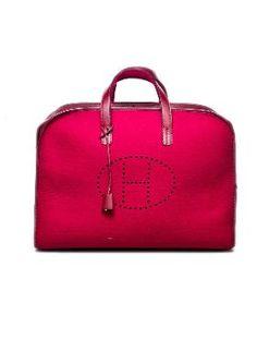 """Hermès Perforated """"H"""" Travel Bag $4750"""