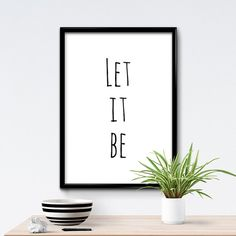 50% SALE Let it Be Poster Best Friend Gift by TheAntleredSeal