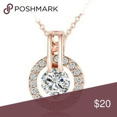💫PRICE DROP💫Classic necklace Rose Gold Women Jewelry Classic Necklace  Rose Gold Plated  Genuine Austrian Crystal Round Pendant Necklace Necklace TypePendant Necklaces. Length40+5cm Metals TypeZinc Alloy Shape\patternRound GenderWomen StyleClassic Chain TypeLink Chain PlatingRose Gold Plate Jewelry Necklaces