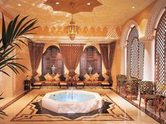 """RITZ-CARLTON DUBAI  First, you should stop off in the Lobby Lounge of the Ritz-Carlton Dubai, for its afternoon tea (with more than 20 brews to choose from). But the real treat here, says one reader, is the """"smoke in the hookah tent. It's a really authentic experience."""""""