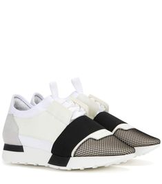 BALENCIAGA Race Runner Fabric And Leather Sneakers. #balenciaga #shoes #sneakers