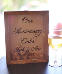 'Our Anniversary' Personalized Cork Keeper