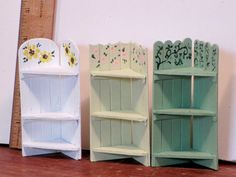 Miniature Garden corner shelf