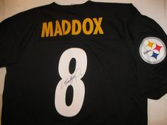 Rare Autographed Pittsburg Steelers,Tommy Maddox # 8, NFL Football Jersey,   XL #PittsburghSteelers