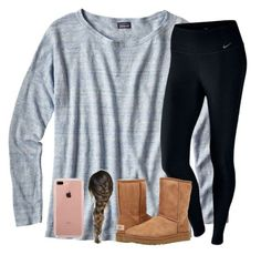 """""""Untitled #2437"""" by laurenatria11 ❤ liked on Polyvore featuring Patagonia, NIKE, UGG Australia and Belkin"""