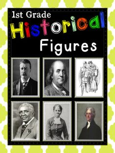 For First Grade! Graphic organizers, Venn Diagrams, Quick Writes, and Assessments! Six historical figures!