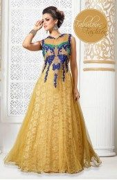 Designer Beige Color Wedding Gown