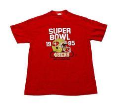 RARE #Vintage #1985 San Francisco #49ers Super Bowl Shirt Made in USA #Mens Size Small