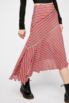 Luna Stripe Skirt   Free People Only Fashion, Boho Fashion, Fashion Outfits, Fashion Design, Fashion Ideas, Dress Skirt, Midi Skirt, Stripes Fashion, Mode Hijab