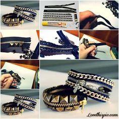 Zipper Bracelets  crafts craft ideas easy crafts  ideas crafty easy   jewelry  bracelet craft bracelet jewelry