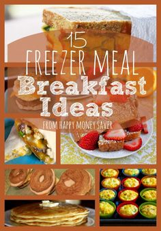 Making freezer meals for your family can save so much time, but having a quick breakfast on hand is a fantastic idea as well! See is this awesome list of 15 Feezer Meal Breakfast Ideas for you to add to your menu today! Make Ahead Freezer Meals, Crock Pot Freezer, Freezer Cooking, Quick Meals, Cooking Recipes, Freezer Recipes, Bulk Cooking, Batch Cooking, Frozen Breakfast