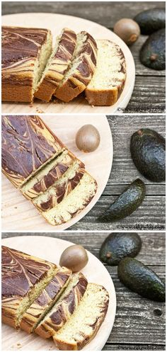 AVOCADO MARBLE CAKE... No butter! NO No oil! No shortening. But, this cake is still sooooo soft and moist and totally delicious