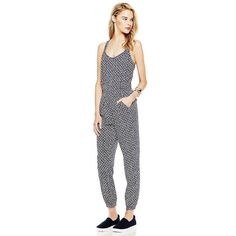 TWO BY VINCE CAMUTO RABAT FLOWER RACERBACK JUMPSUIT